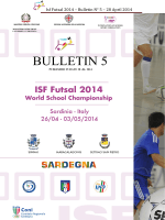 Isf Futsal 2014 – Bulletin N° - ISF World School Championship