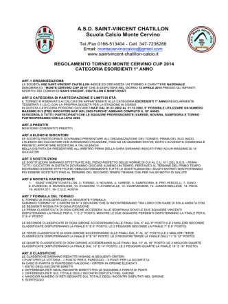 A.S.D. SAINT-VINCENT CHATILLON Scuola Calcio Monte Cervino