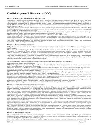 Condizioni generali di contratto (CGC)