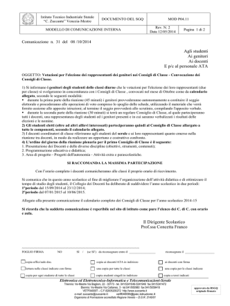 circ_031 Elezione Genitori nei CdiC 2014-15 Calendario