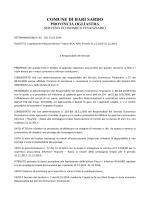 determina liquidazione polizza unipol anno 2014