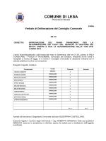 COMUNE DI LESA - Amministrazioni Comunali