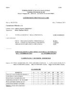 Comunicato Ufficiale n. 14