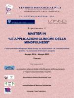 Programma del master - Istituto Italiano Mindfulness