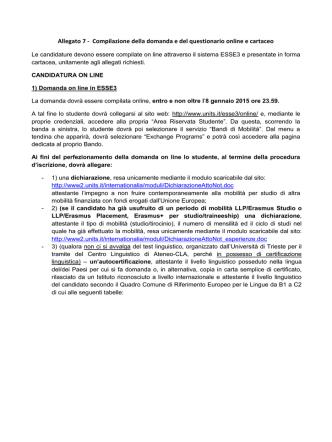 Allegato 7 - Università degli Studi di Trieste