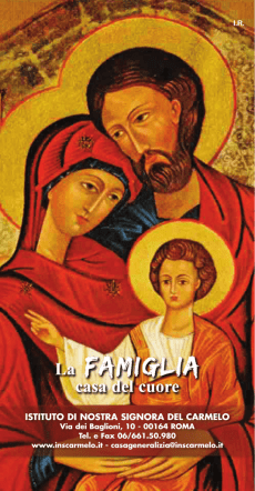 Calendario 2015 - Congregazione Suore Carmelitane
