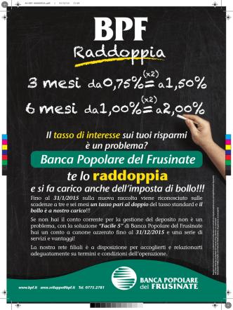 A4-BPF RADDOPPIA - Banca Popolare del Frusinate