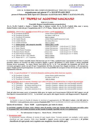 11° TROFEO M° AGOSTINO MACALUSO