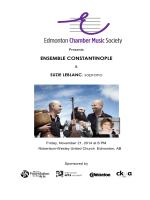 Program - The Edmonton Chamber Music Society