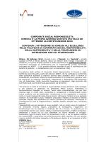 KINEXIA S.p.A. CORPORATE SOCIAL RESPONSIBILITY: KINEXIA