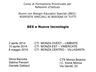 BES nuove tecnologie - Ufficio scolastico regionale per la Lombardia