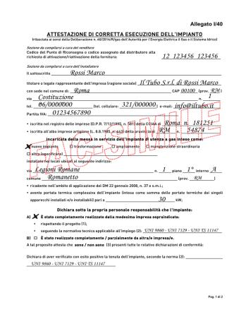 Allegato I-40 - esempio di compilazione