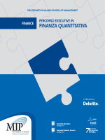 percorso executive in finanza quantitativa - Mip