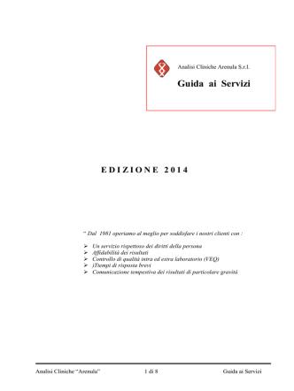 ANALISI CLINICHE ARENULA S
