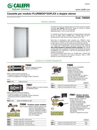 Cassetta per modulo PLURIMOD® DUPLEX a doppia utenza Cod