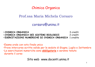 Chimica Organica - Associazione Studenti di Agraria IAAS Sassari