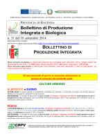 Bollettino tecnico n. 31 del 18 settembre 2014