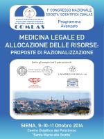 Sessione parallela - Azienda Ospedaliera Senese