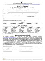 Modulo di iscrizione - Pre-Post Scuola IC3 Felissent 2014