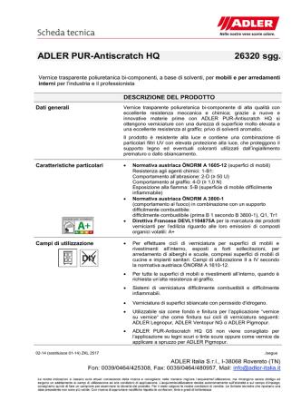 ADLER PUR-Antiscratch HQ 26320 sgg.