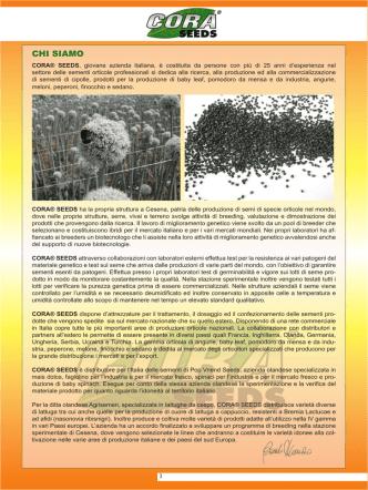 CHI SIAMO - Cora seeds