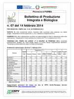 Bollettino integrato-bio PR07/14-02-14