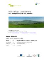 bando 4.1.1.3.5 VA in Tour - Comune di San Chirico Nuovo