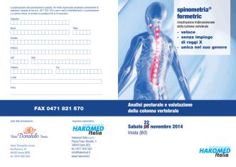 Analisi posturale e valutazione della colonna vertebrale