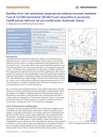 Bonifica di un sito industriale inquinato da solventi