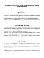 II Schema di Accordo Ossigeno