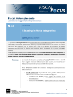 Il leasing in Nota integrativa