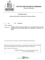 "regolamento - ""Istituti Ospitalieri"" di Cremona"