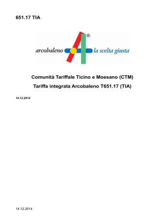 651.17 TIA Comunità Tariffale Ticino e Moesano (CTM