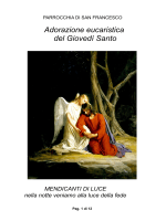 Adorazione eucaristica del Giovedì Santo