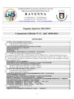 C.U. N. 11... - FIGC Ravenna