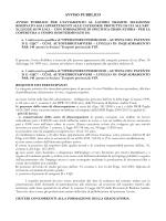 AVVISO PUBBLICO - Provincia BAT