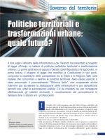 Politiche territoriali e trasformazioni urbane: quale