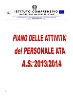 Piano attività personale ATA a.s.2013_14