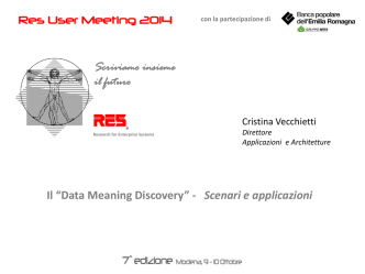 Data Meaning Discovery - RES srl - Research for Enterprise Systems