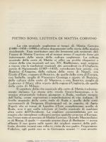 Pietro Bono, liutista di Mattia Corvino