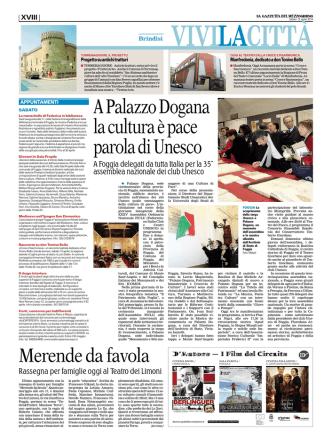 A Palazzo Dogana la cultura è pace parola di Unesco