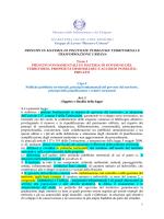 principi in materia di politiche pubbliche territoriali e trasformazione