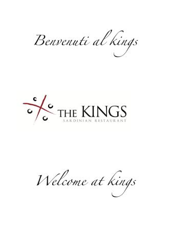 (doc Alghero)! - The Kings Restaurant
