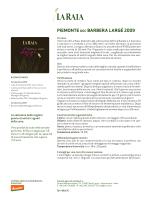 PIEMONTE DOC BARBERA LARGÉ 2009