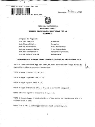 CORTE DEI CONTI - CODICE UFF. T89 DOC. INTERNO N