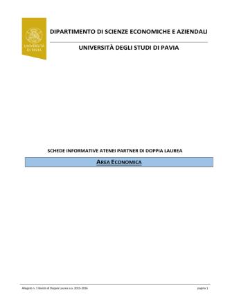 allegato 1 - Economia - Università degli studi di Pavia