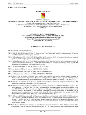 DDS 4735 del 22 OTTOBRE 2014 - Buccheri