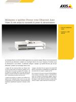 Midspan e splitter Power over Ethernet Axis
