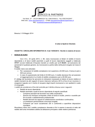 Circolare 05-2014 - Sacco and Partners