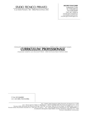 curriculum vitae - Gazzetta Amministrativa